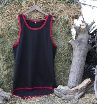 ShearingTShirts tirantes negra con faldón