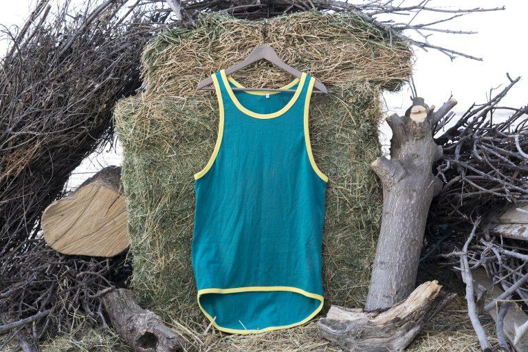 ShearingTShirts tirantes verde con faldón